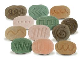 Voel schrijfpatroon stenen