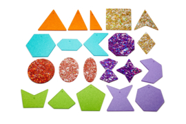 Regenboog glitter vormen