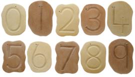 Voel getalpatroon stenen