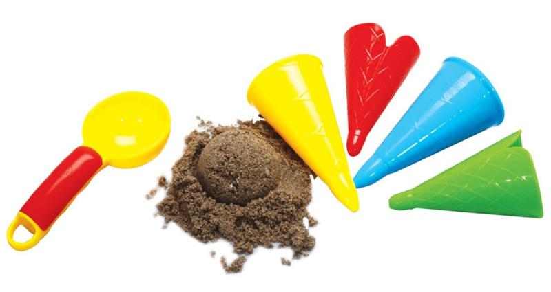 Zandvormen - ijsjes