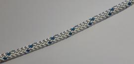 12 mm hijstouw blauw/wit