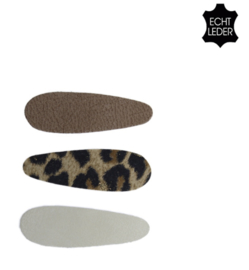 Speldje fiene Lichtbruin/luipaard/gebroken wit
