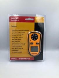 Digitale Anemometer Windsnelheids meter met ingebouwde thermometer.