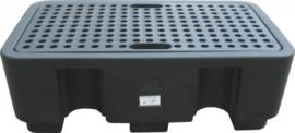 Vloeistof opvangbak voor 2 vaten met een inhoud van 250 liter