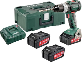 Metabo SB 18 LT BL 18V Li-Ion accu klopboor-/schroefmachine set (3x 4,0Ah accu) in Metaloc - koolborstelloos