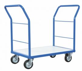 Platformwagen met dubbele duwbeugel diverse opties tot 500 kg.