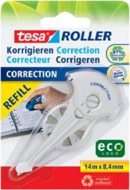 Tesa Navulcassette Correctieroller Roller 59986 8.4 Mm Wit 14 M 1 Stuks