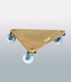 Driehoekige transportwagen voor bijvoorbeeld meubels
