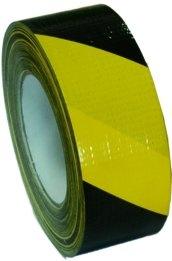Markeringstape PVC voor het verhogen van de veiligheid. Geel / Zwart