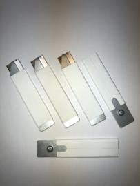Set van 5 mesjes voor het veilig openen van dozen. Door het korte lemmet is het haast onmogelijk om door producten te snijden tijdens het openen van een doos.