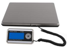 Kwaliteitsweegschaal met los te plaatsen display. Maximum weegvermogen 200 kg in stappen van 50 gram.