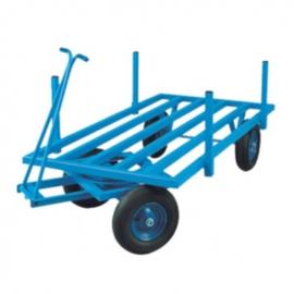 Platte handtrekwagen tot 400 kg laadvermogen 2500 mm lang