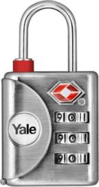 Yale cijfer- of bagageslot Zinken huis en stalen beugel TSA certified