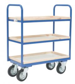 Etagewagen met 3 niveau's tot 400 kg belastbaar.