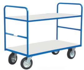 Etagewagen met 2 niveau's tot 400 kg belastbaar.