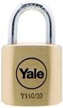 Yale hangslot voor algemeen gebruik, type Y110/30/117/2. Per 2 stuks gelijksluitend.