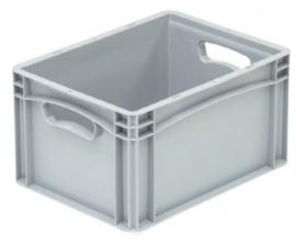 Kunststof krat met gesloten zijkanten en 2 open handvaten 400x300x220 mm