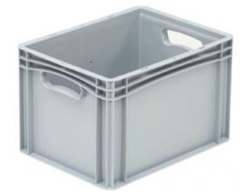 Kunststof krat met gesloten zijkanten en 2 handvaten 400x300x270mm