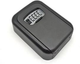 Sleutelkluis met 4-cijferig combinatieslot voor het opbergen van sleutels en pasjes. Weerbestendige kluis voor binnen en buiten inclusief montagemateriaal.
