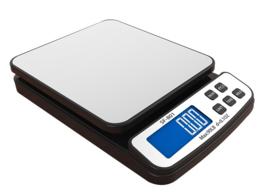 Kwaliteitsweegschaal met RVS tableau verschillende functies en geschikt voor het gebruik met voedsel