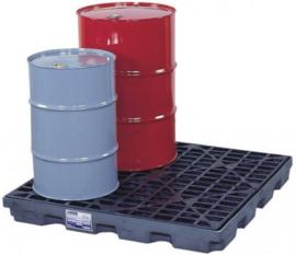 Lage opvangbak met een inhoud van 163 liter voor vier vaten