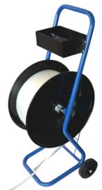 Verrijdbare haspel voor polyester en polypropyleen omsnoeringsband