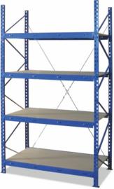 Legbordstelling blauw 1000 br x 600 d x 2500 mm hoog
