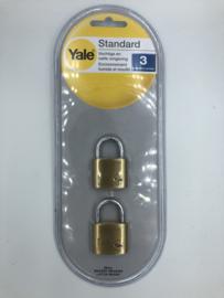 Yale messing hangslot Y110/35 per 2 st voor natte en vochtige omgeving