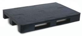Kunststof pallet 1200 x 800 mm met drie skids