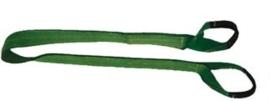 Hijsband type 88. Polyester plat met twee lussen. Verschillende uitvoeringen.