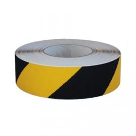 Geel zwart Antislip Spidertech vloertape 50 mm (rol 10 meter)