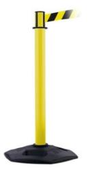Markeringspaal met markeringslint in verschillende lengtes en uitvoeringen