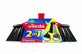 Vileda bezem 2 in 1 ± 35 cm breed.
