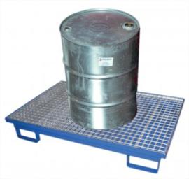 Stalen badkuip voor de afvoer van 1 vat