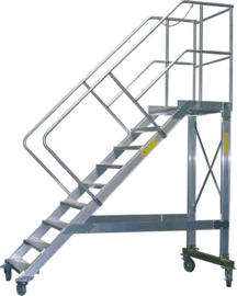 Verrijdbare aluminium platformtrap in diverse hoogtes
