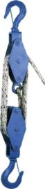 Katrol voor handmatige bediening te gebruiken met touw tot 300 kg