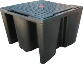 Vloeistof opvangbak voor IBC / KTC-container met een capaciteit van 1100 liter.