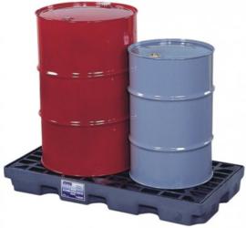 Lage opvangbak met een inhoud van 84 liter voor twee vaten
