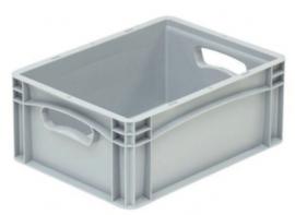 Kunststof krat met gesloten zijkanten en 2 open handvaten 400x300x170 mm