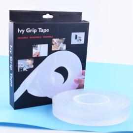 Ivy Grip Nano PU tape voor fixering rol 100 x 3 cm x 2 mm dik verpakt in doosje