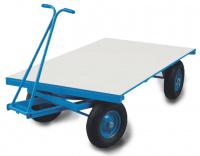 Platte handtrekwagen tot 600 kg laadvermogen
