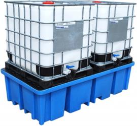Opvangbak voor 2 IBC-containers