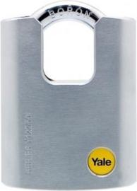 Yale Hangslot Satijn Chroom Beschermde Beugel Y122/50