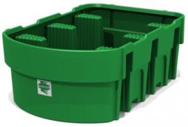 Vloeistof opvangbak inhoud van 1050 l gemaakt van kunststof voor PK en IBC