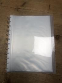 Show- en presentatie album A4 met 30 uitneembare tassen, Transparant
