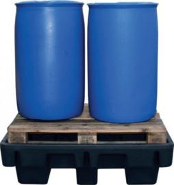 Opvangbak zonder rooster, 230 liter voor twee vaten