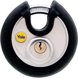 Yale discuss hangslot rubberized 70 mm per 2 STUKS verpakt
