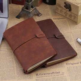 Handmade Leather Travel Journal Bruin.