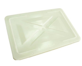 Kunststof deksel voor krat 600x400mm wit