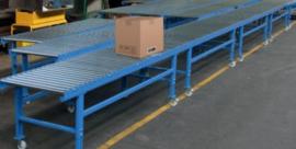 Handmatig aangedreven rollenbaan 600 of 800 mm breed diversen lengtes.